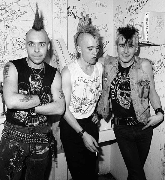 Шотландская панк-рок группа The Exploited